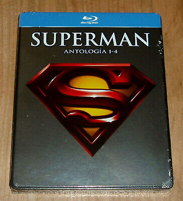 Superman Anthology 1-4 Neuf 4 Blu-Ray Scellé Steelbook (sans Ouvrir) R2