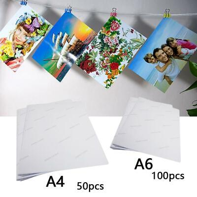 A4 A6 White Glossy Self Adhesive Sticker Photographic Photo Printer Paper T2K8