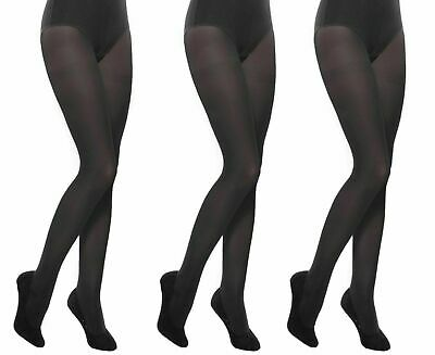 Black School Multipacks 3 pack Girls Tights Opaque by Aurellie 11-12 years