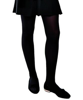 Black School Opaque Tights Girl's 8-10 Years 2, 3 & 5pack by Aurellie