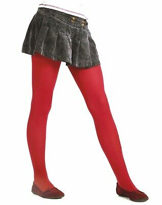Older Girl's School Red Tights 40 Denier Hosiery Victoria