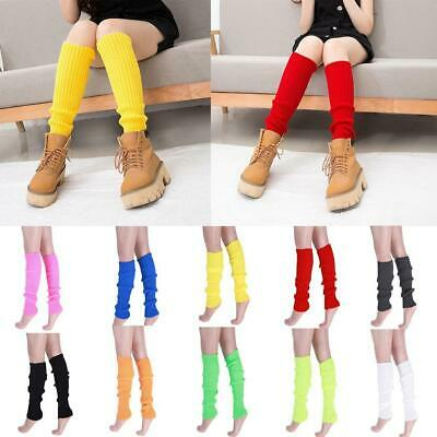 Women Leg Warmers Winter Knit Dance Party Crochet Legging Socks Costume 44 New