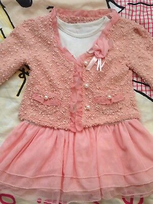Girls Party Outfit Dress Blazer 3-4 Years