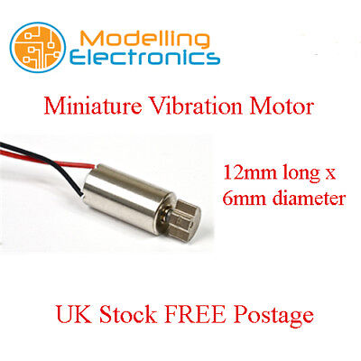 Miniature Vibration Motor 3v for Phones and other Hand Held Alarms UK Stock