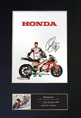 #628 CAL CRUTCHLOW Reproduction Signature/Autograph Mounted Signed Photograph A4