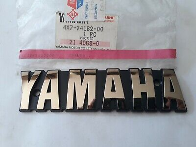 NOS Genuine Yamaha Fuel Tank Right Emblem Badge 4X7-24162-00 XV750 Virago 81-83