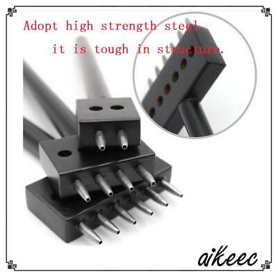 Metal Leather Craft Tools Diamond Hole Punche Stitching Prong Punch Tools Black
