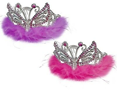 Pack Of 12 Butterfly Princess Tiara Crown Girls Costume Party Fancy Dress Up
