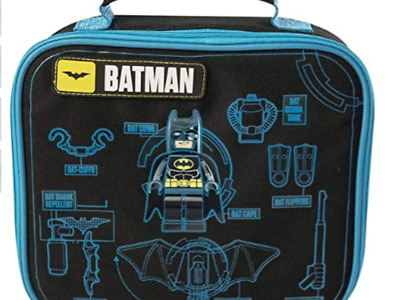 Brand New Official Batman Lego Movie Boys Nursery School Lunch Insulated Bag