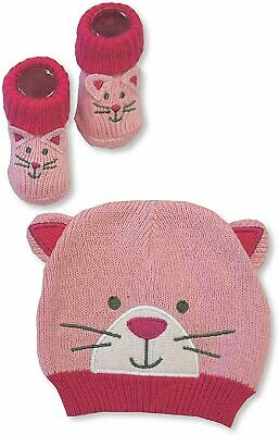 Baby Girls Knitted Hats, Booties And Gloves Set Bundle Gift - Wholesale Job Lot