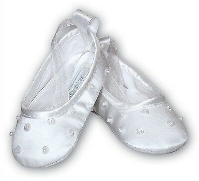 Baby Girl Christening Occasion Shoes White - Size 3