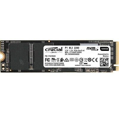 Crucial CT1000P1SSD8 P1 1TB M.2 (2280) NVMe PCIe SSD3D NAND Internal Solid S WP.
