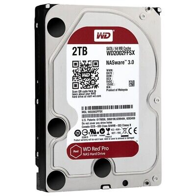 """Western Digital WD2002FFSX Red Pro 2TB HDD for NAS SATAIII 7200rpm 64Mb 3.5"""" WP."""