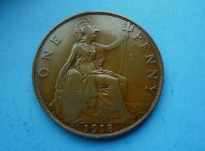 George V., 1918 KN Penny, Good Condition.