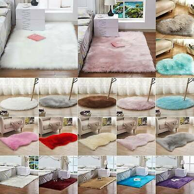 Washable Fluffy Rug Anti-Skid Shaggy Rugs Carpet Bedroom Living Room Floor Mats