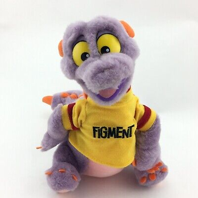 "Vtg Figment Stuffed Plush 10"" Purple Dragon Walt Disney World Disneyland Epcot"