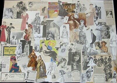 PRETTY LADY Paper Ephemera Art Packs~1930s Fashion Cuts,Vtg Ads,Victorian Women+