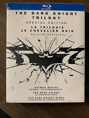 NEW The Dark Knight Trilogy 6 Disc Blu-Ray w Slipcover Special Edition Canada