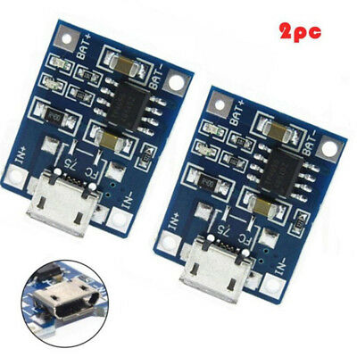 2x TP4056 5V 1A Lithium Battery Charging Board Charger Module Micro HICA