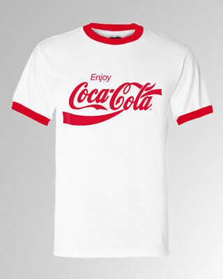 Coca Cola Enjoy Logo Ringer Men T-shirt