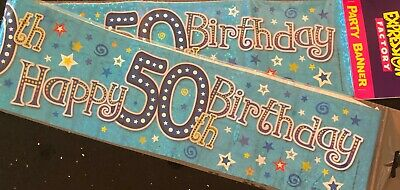 2.5m Long can be split into 3-40th 40th Birthday Banner Blue Star 40th
