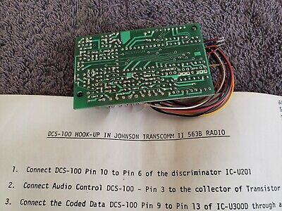 NOS Motorola Controller Control Kit ? DCS-100 U2 for Johnson II 563B 2 way Radio