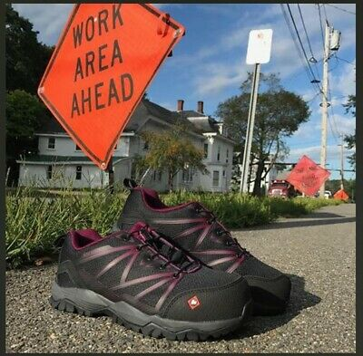 Women's New Size 10 M Purple & Black Merrell Composite Toe Work Safety Shoes