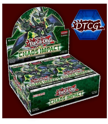 Preorder Sealed Yu-Gi-Oh! Chaos Impact Booster Box Free & Fast Shipping