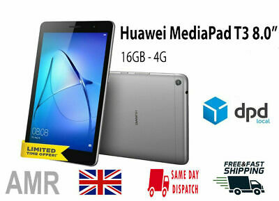 """Huawei MediaPad T3 10 9.6"""" WiFi 16GB Android Tablet - Space Grey UK STOCK"""