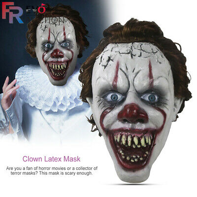 Halloween Pennywise Masque Effrayant Clown Cosplay Costume Clown Stephen King
