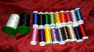 OESD ISACORD Thread 20 Colors Germany Polyester Embroidery Thread Kit Craft   ✞