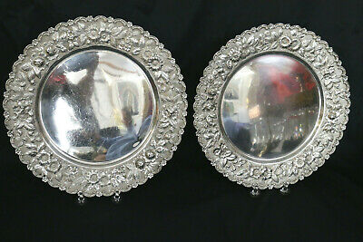 Pair of Sterling Silver Respousse Underplates 42 ounces