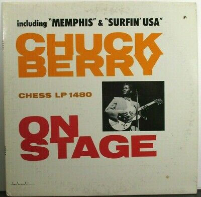 Chuck Berry  Chess LP-1480  Chuck Berry on Stage  Mono  Blue/White Chess Label
