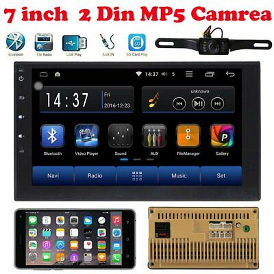"7"" Double 2DIN In dash Car stereo Radio Player GPS DVD Navigation WiFi camera BP"