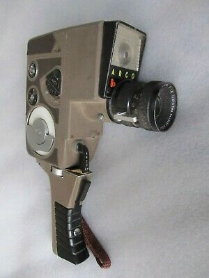 Vintage ARCO EIGHT (8D or P?) 8mm mechanical key wind up movie camera & handle