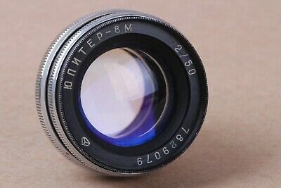 Lens 50 mm f/2 JUPITER-8M Mount CONTAX. Soviet For KIEV 2, 3, 4. USSR