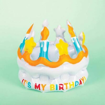 Inflatable It's My Birthday Novelty Cake Design Party Crown
