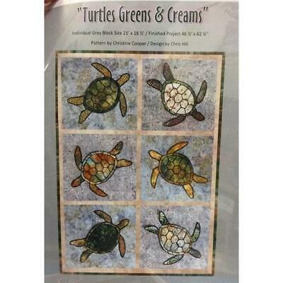 Quilting Sewing Quilt Pattern TURTLES Patchwork Pattern Batiks New