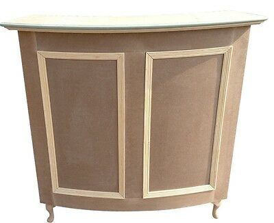Small Curved Salon-Retail Reception Desk - unpainted - painted option available