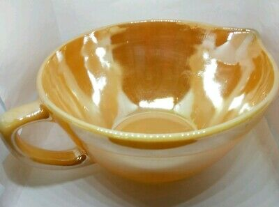 Fire King Vtg Oven Ware Mixing Bowl Gravy Boat 32 OZ / 4 Cup Peach Lustre Glow