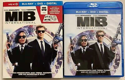 Men In Black International Blu Ray Dvd 2 Disc Target Exclusive Slipcover & Book