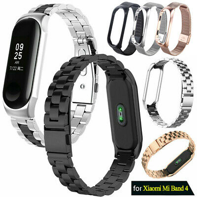 For Xiaomi Mi Band 4 Metal Wrist Bracelet Stainless Steel Watch Band Strap 2019