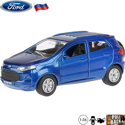 Diecast Car Scale 1:36 Ford EcoSport Subcompact Crossover SUV Russian Model Cars