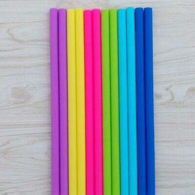 Food Grade Silicone Straws Silicone Straight Tube Juice Milk Tea Drink StrawsX