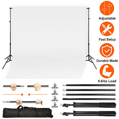 10ft Heavy Duty Photo Video Studio Backdrop Background Stand Adjustable With Bag