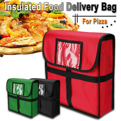 Hot Food Pizza Takeaway Restaurant Delivery Bag Thermal Insulated 33x33x11cm New