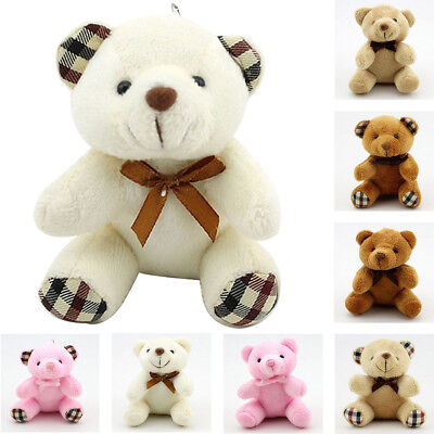 Small Mini Teddy Bear Stuffed Animal Doll Plush Soft Toy Children Kids UK STOCK