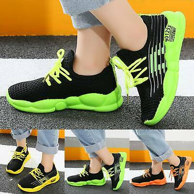 Kids Boys Girls Sports Breathable Shoes Running Trainers Casual Mesh Sneakers