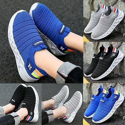 Kids Boys Trainers Athletic Sneakers Mesh Breathable Toddler Sport Running Shoes