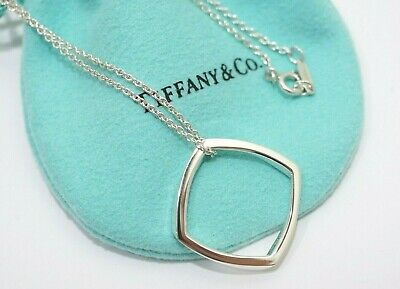 Tiffany & Co. Sterling Silver Frank Gehry Narrow Torque Pendant Necklace 16""